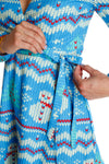 snowman holiday party dress