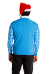 Men's Blue Christmas sweater