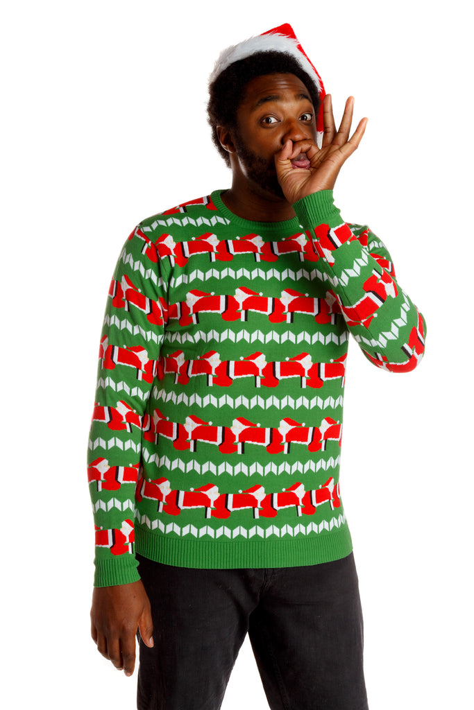 Mens Christmas Sweater The Human Santapede