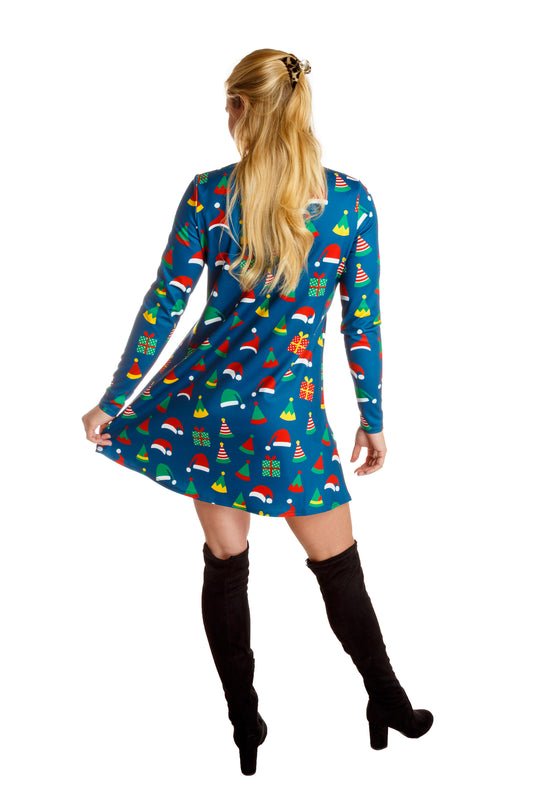 turtleneck dress for women with elf hats