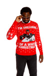 Men's tony montana red christmas sweater