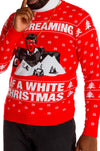 The Tony Mountaina | White Christmas Holiday Sweater