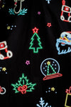neon lights long sleeve christmas dress