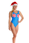 peppermint one piece swim suit