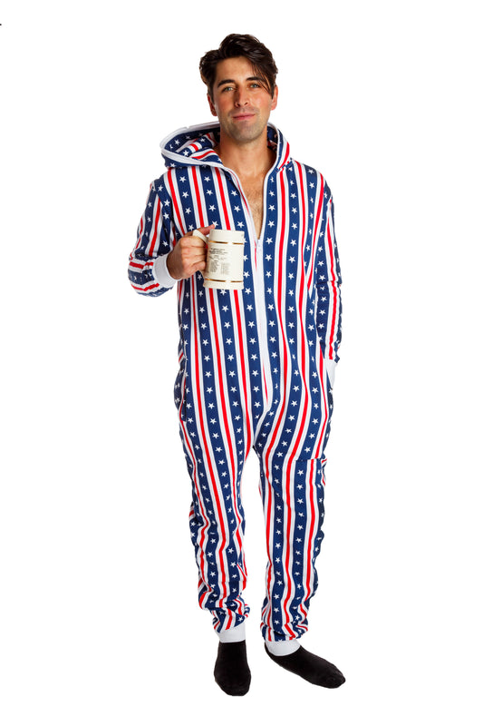 Adult USA onesie for men