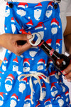 Womens Blue Christmas Pajamaralls