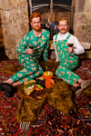 The Ninja Bread | Men's Green Gingerbread Christmas Pajamaralls