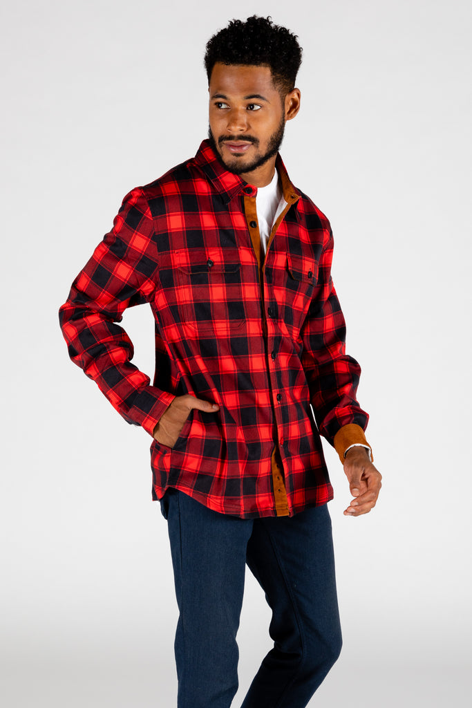 The Maple Mob | Buffalo Check Stretch Flannel