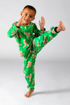 Ninja bread toddler pajamas