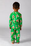Green gingerbread men Christmas pjs