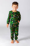 kids christmas tree print camouflage PJs