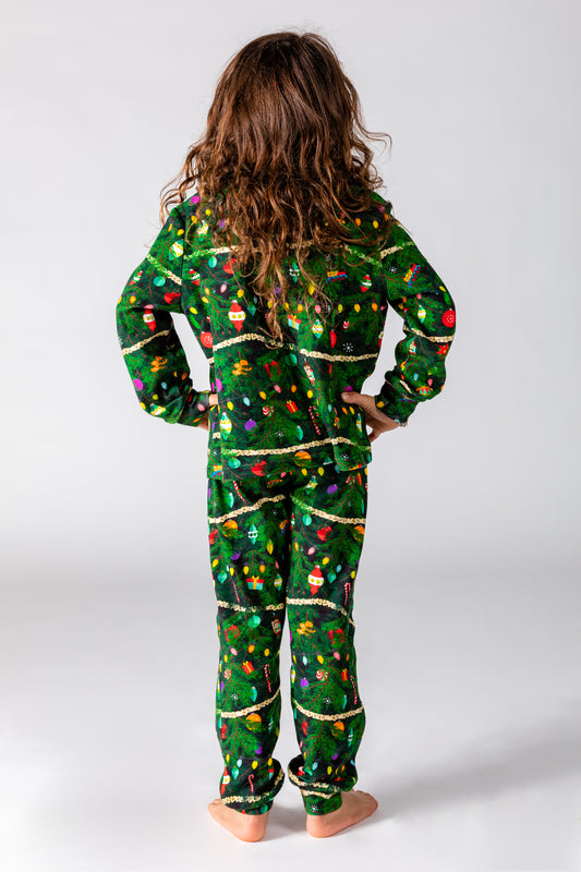 decorated christmas tree PJ's for young kids