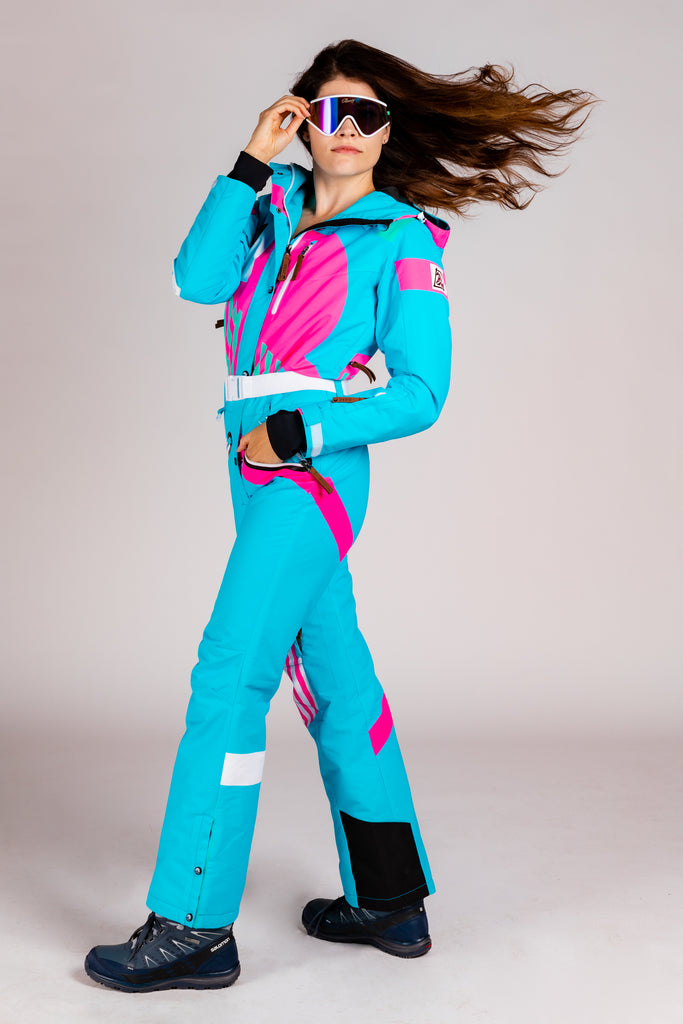 The Chairlift Chiefer | Women's Teal Ski Suit