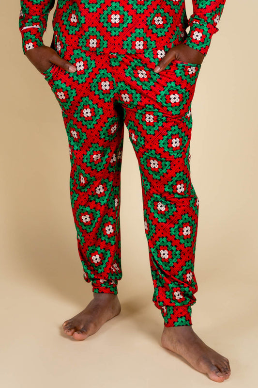 Men's Big Knit Christmas Pajama Bottoms