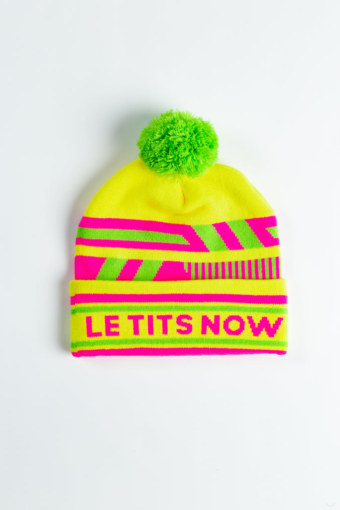 The Le Tits Now | Yellow Retro Ski Beanie