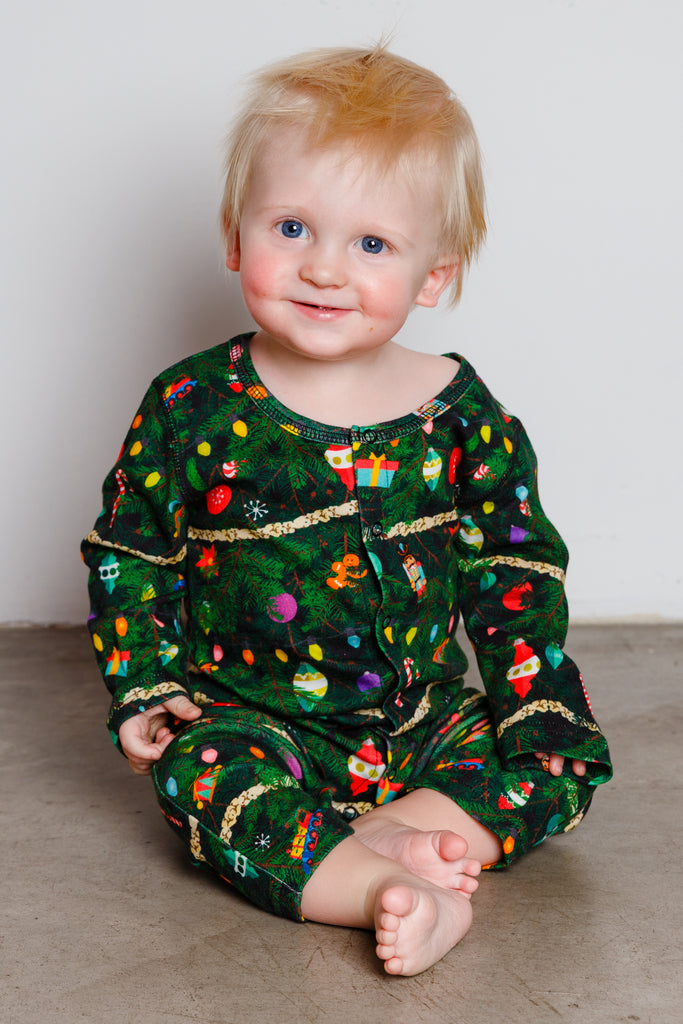 The Christmas Tree Camo | Baby Green Christmas Tree Pajamas