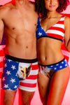 Matching usa couples underwear