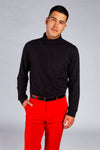 Black turtleneck for men