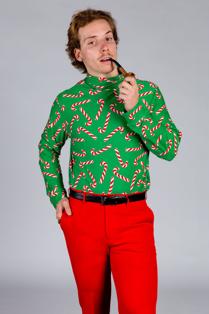 The Santa's Shiv | Candy Cane Christmas Turtleneck