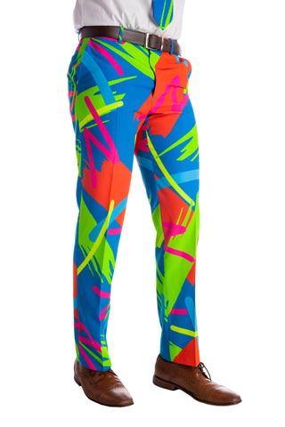 The Cuddle Puddles | Neon 90s Brush Strokes Pants