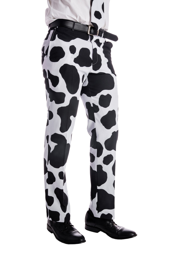 80663b6a325 Cow Print Suit Pants for Men by Shinesty