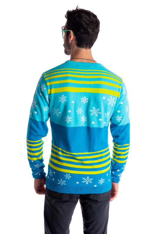 Neon festive party holiday sweater for men