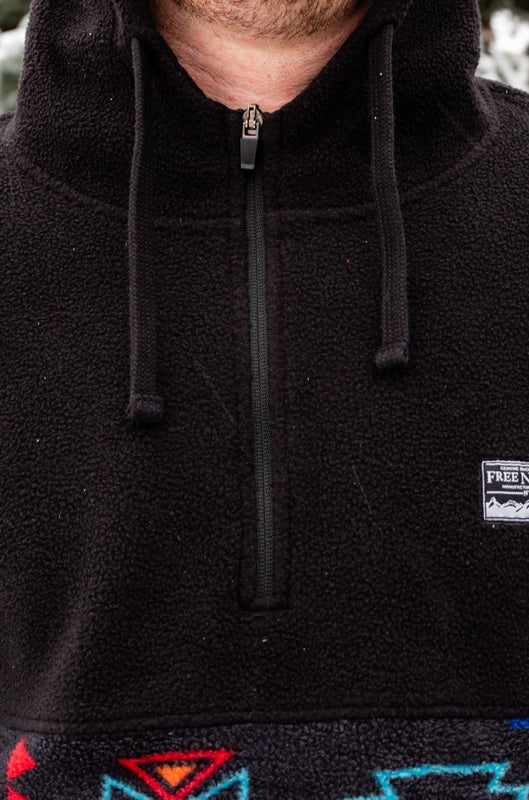 black fleece zip up