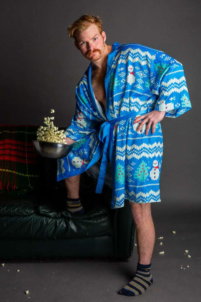 Just The Frosted Tips Holiday Party Kimono