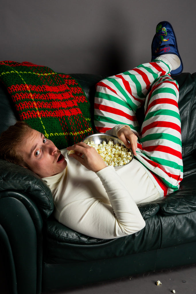 The Xmas Couch Surfer | Christmas Striped Hammer Pants