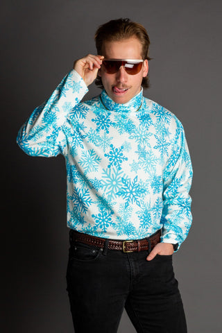 Men's snowflake christmas turtleneck