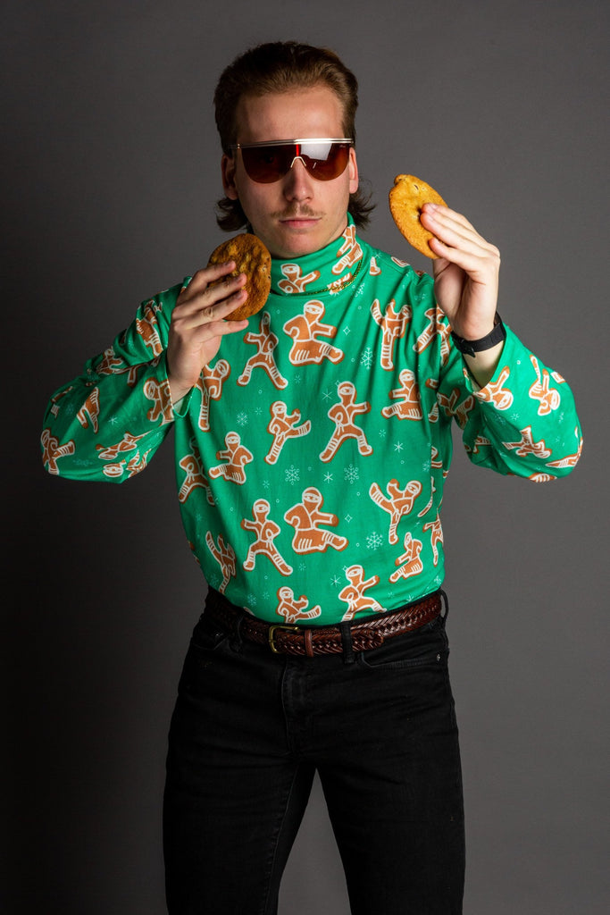 The Ninja Bread | Men's Gingerbread Cookies Turtleneck