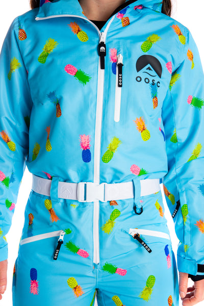 Ladies neon retro ski suit
