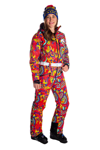 e6d37320a5c5 The Paisley Pillow Popper Women s Neon One-Piece Ski Suit