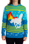 Gals horse ugly holiday christmas sweater