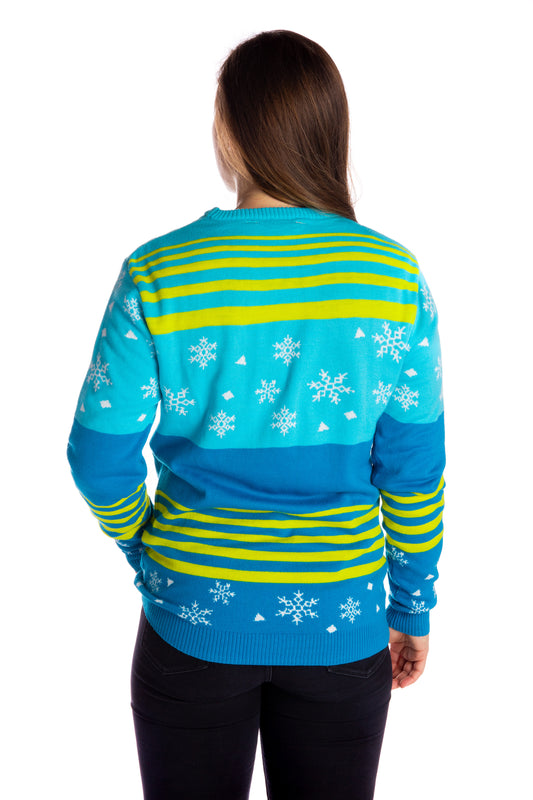 Female Neon festive party holiday sweater