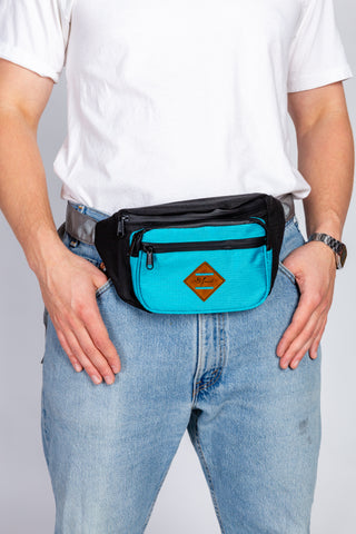 Totally Bodacious 80s Neon Blue Hot Pink Fanny Pack