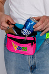 Color blocked retro fanny pack