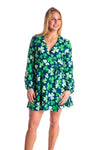 Ladies shamrock St. Patrick's day wrap dress