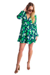 Ladies St. Patrick's day clover wrap dress