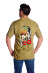 Men's hula girl hawaiian shirt