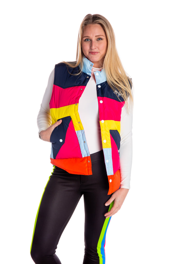 The 77 | Ladies Multicolored Ski Vest