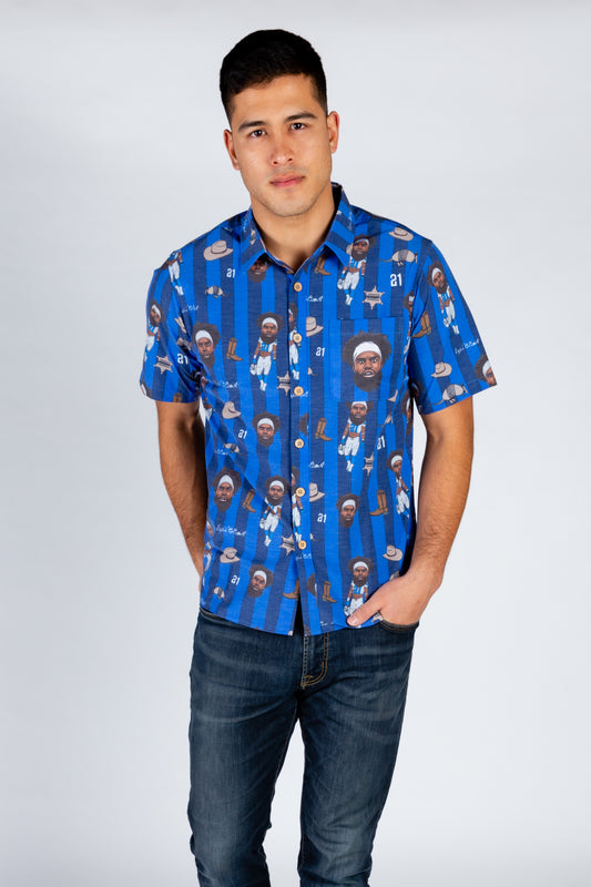 The Ezekiel Elliott | Blue Hawaiian Shirt