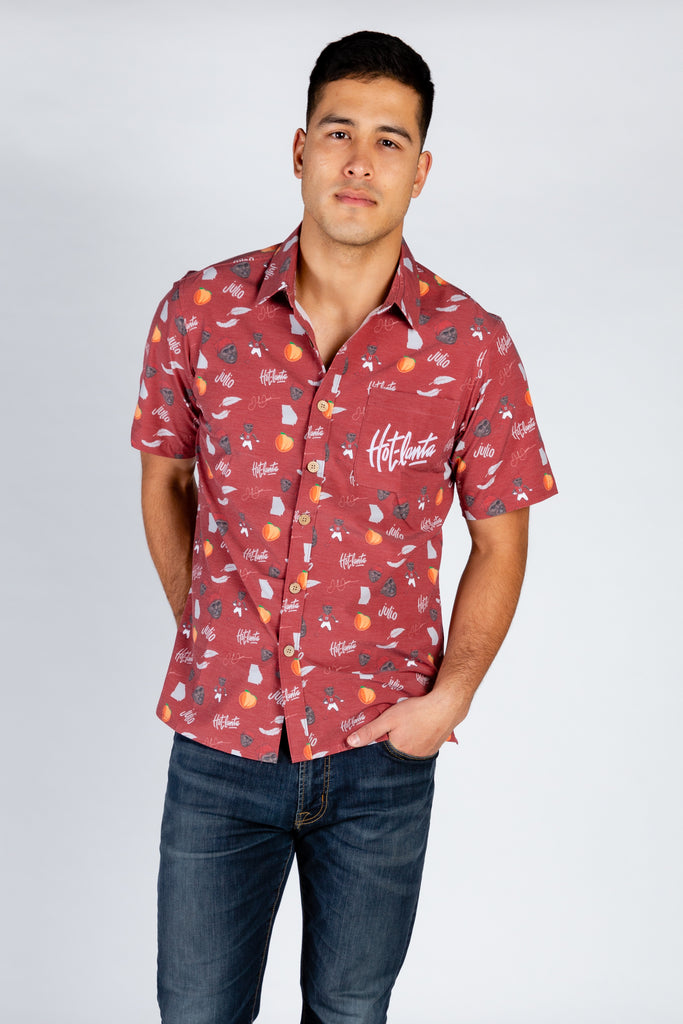 The Julio Jones | Red Hawaiian Shirt