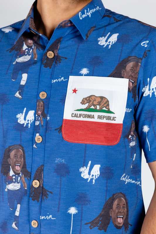 The Todd Gurley | Blue Hawaiian Shirt