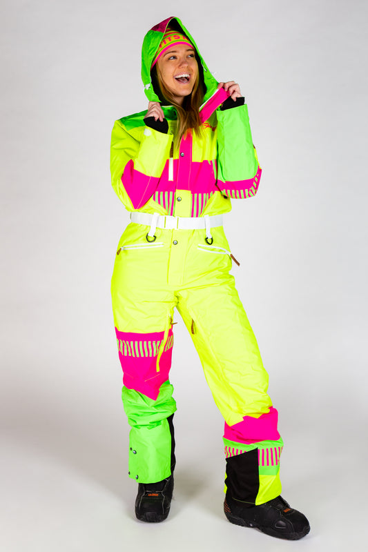 the cat track fever neon ski suit