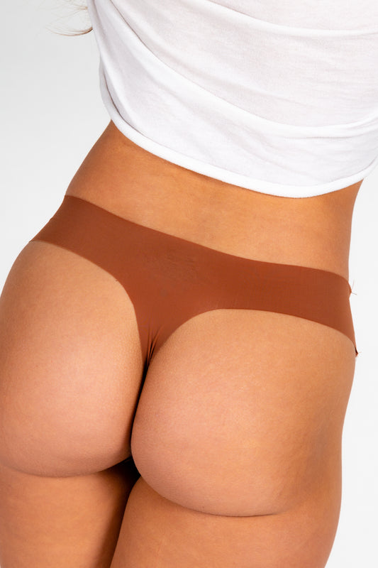 silky seamless thong for women