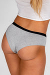 grey women's matching undies