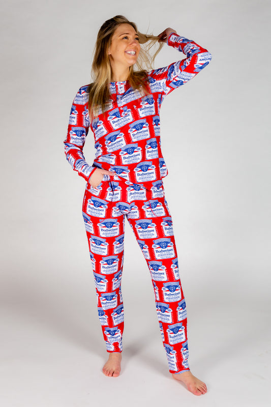 The Malt And Hops | Womens Budweiser Pajama Top