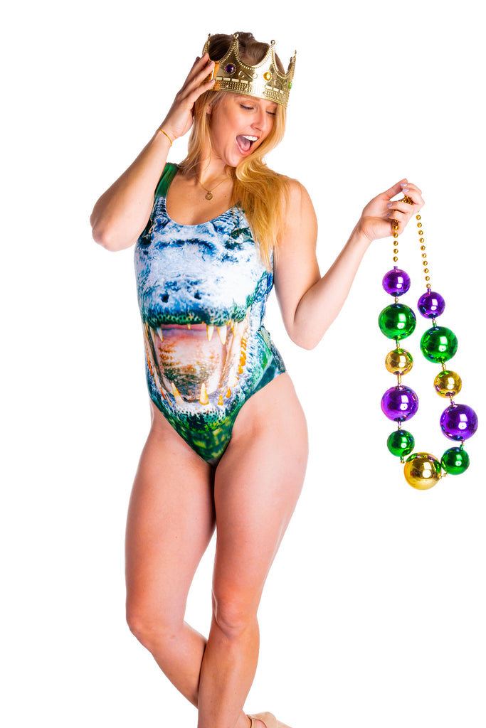 The Swamp Swimmer Gator One-Piece Swimsuit