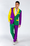 Guys Purple Green and Yellow Party Blazer